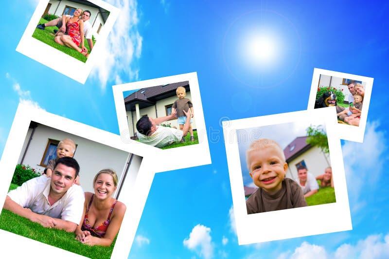 Cuadros de la familia feliz imagenes de archivo