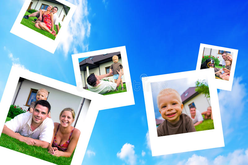 Cuadros de la familia feliz imagen de archivo libre de regalías