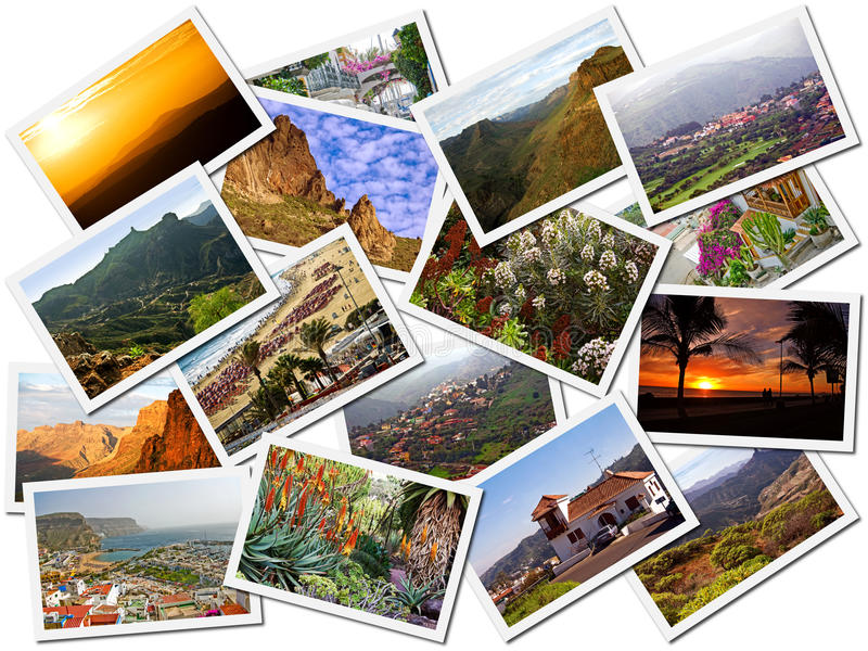 Cuadros del recorrido de Gran Canaria imagen de archivo