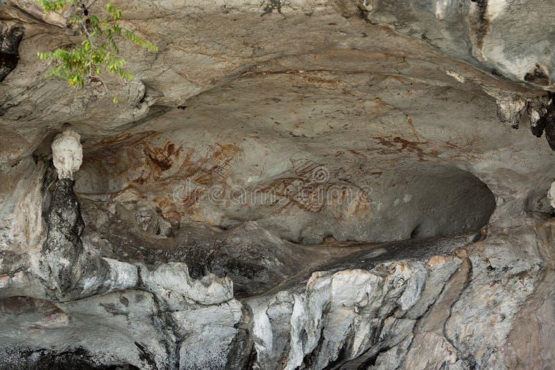 Cuadros En La Pared De La Cueva Fotografía de archivo