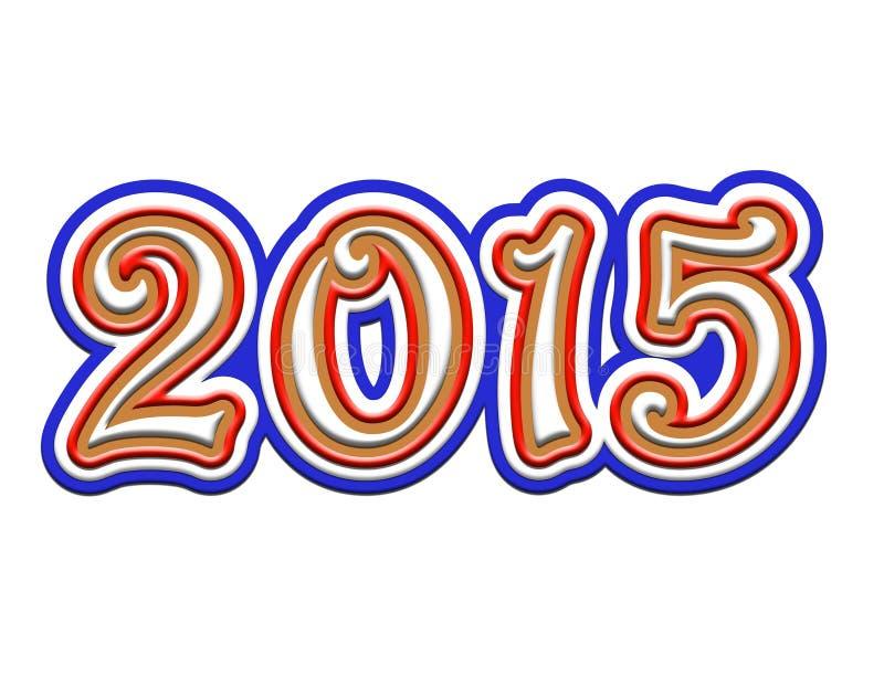 Cuadros 2015 en un fondo blanco ilustración del vector