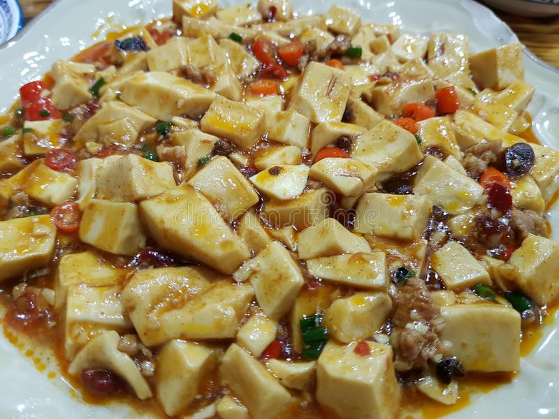 cuajada de habichuelas china del queso de soja de China de la comida fotos de archivo libres de regalías