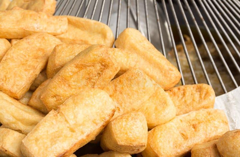Cuajada de habichuelas frita, comida vegetariana fotografía de archivo libre de regalías