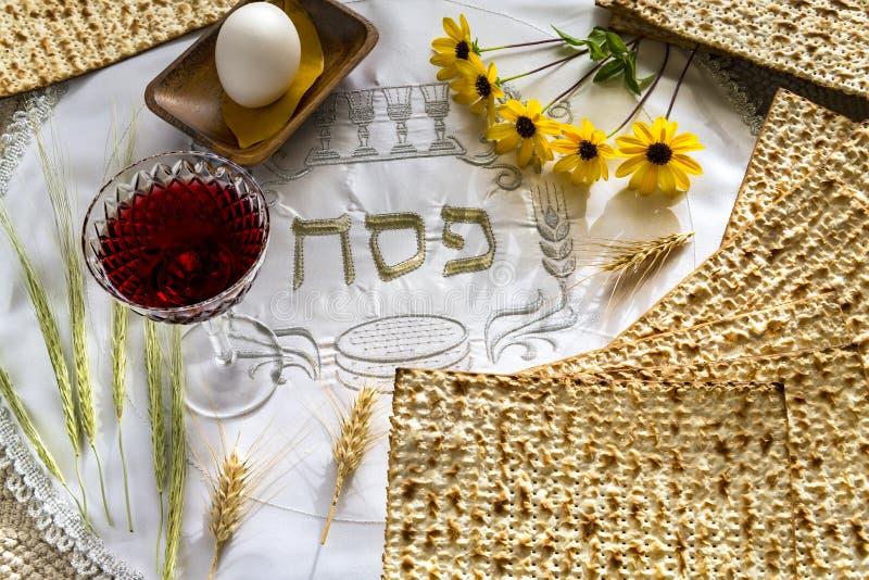 Cualidades del comandante de los d?as de fiesta jud?os de Seder de la pascua jud?a imágenes de archivo libres de regalías