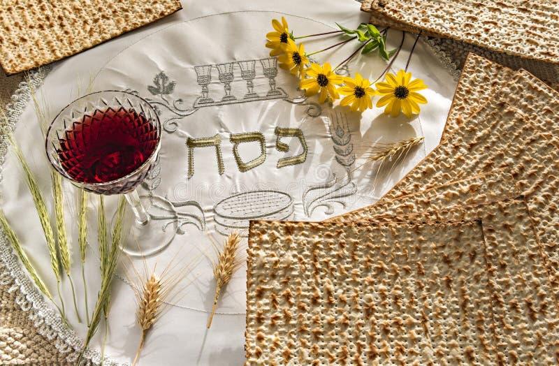 Cualidades del comandante de los d?as de fiesta jud?os de Seder de la pascua jud?a imagen de archivo