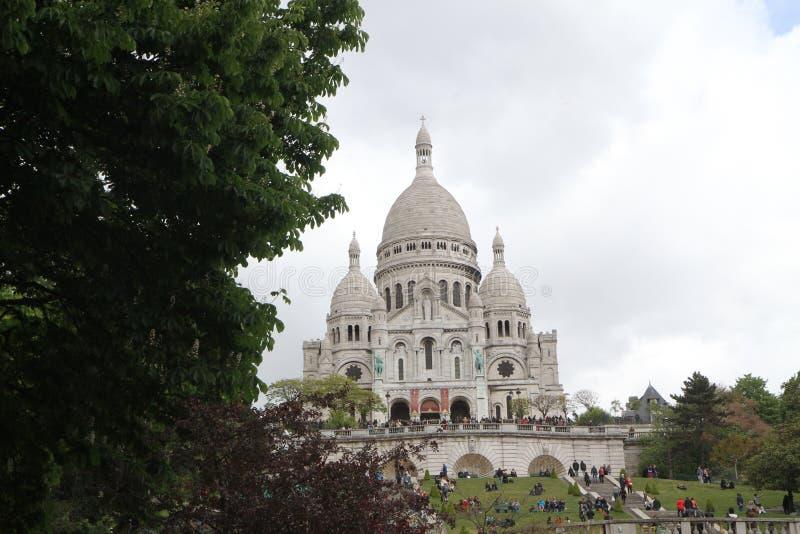 Cuando en París, Basilique de Sacre Coeur fotos de archivo