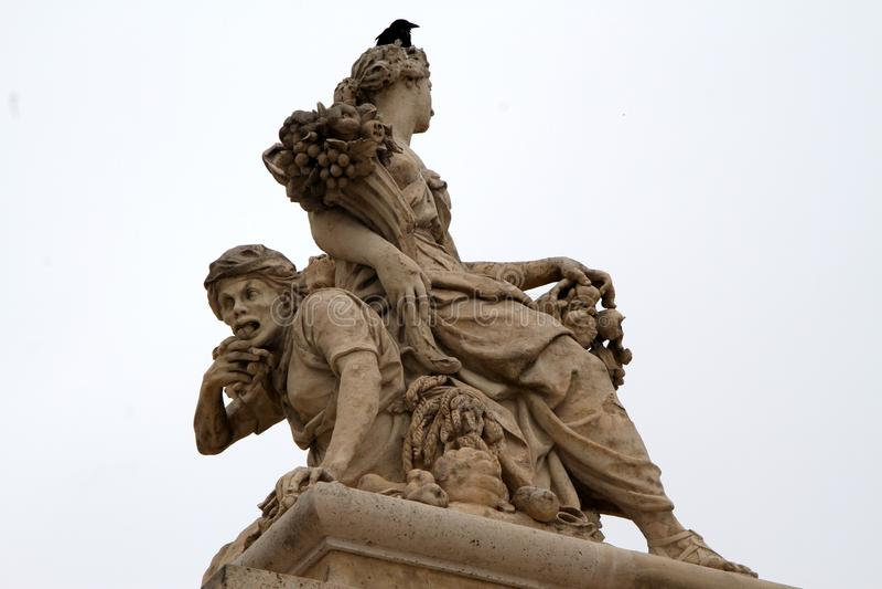 Cuando en París escultura de la vida de ciclo de Versalles fotografía de archivo