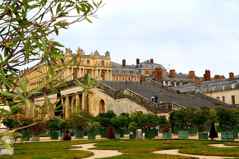 Cuando en París, le Jardins de Versalles fotografía de archivo libre de regalías