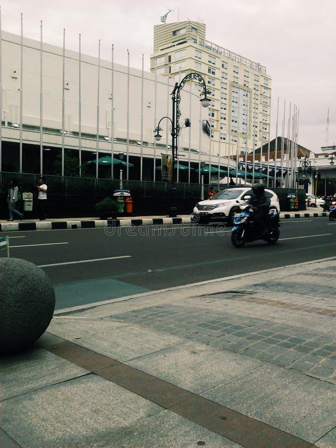 Cuando las nubes cubrieron la ciudad de Bandung imagen de archivo libre de regalías
