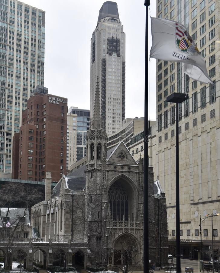 Cuarta iglesia presbiteriana de Chicago fotografía de archivo