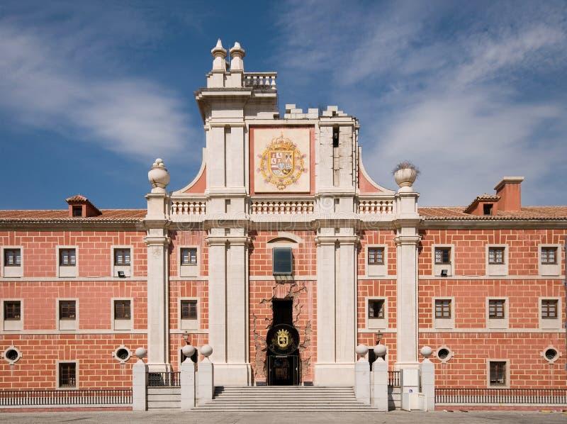 Cuartel del Conde Duque. Madrid, Spain. Cuartel del Conde Duque. Base of Guardias de Corps in the Independence war. Principal Facade. Madrid, Spain royalty free stock image