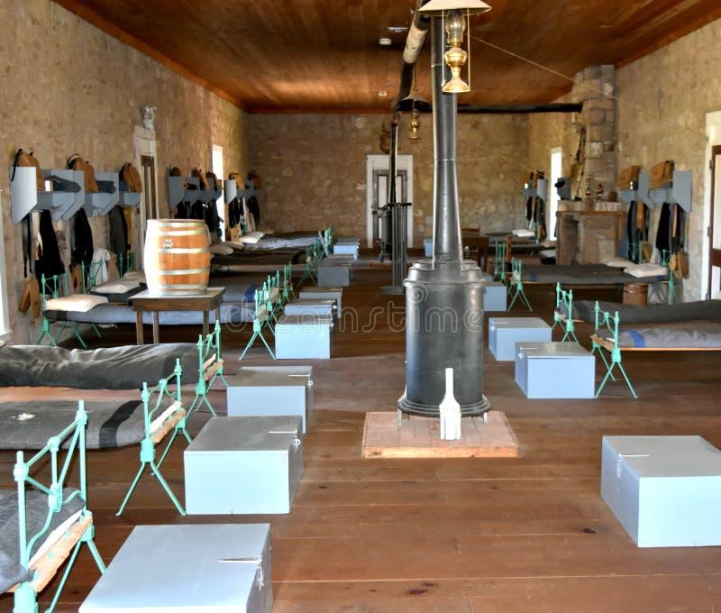 Cuarteles alistados Concho del fuerte, San Angelo Texas imagen de archivo libre de regalías