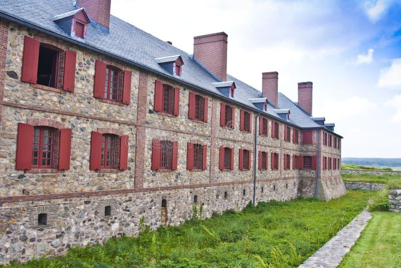Cuarteles del bastión de Louisbourg de la fortaleza imagen de archivo