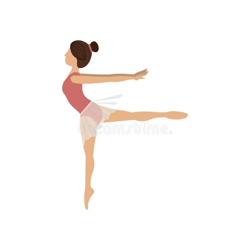 Cuarto arabesque de la actitud colorida del bailarín libre illustration