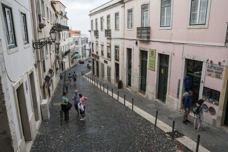 Cuarto de Alfama, Lisboa imagenes de archivo