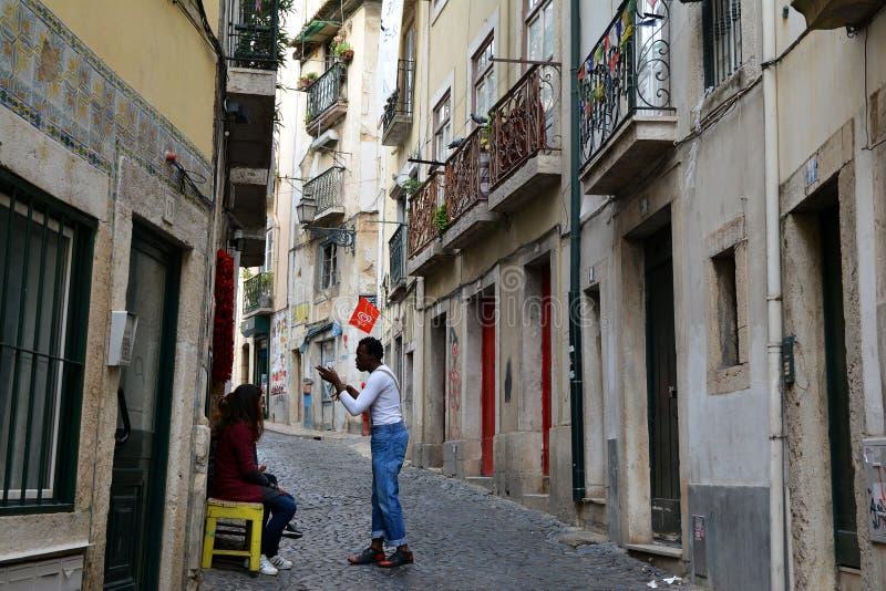 Cuarto de Alfama, Lisboa fotos de archivo
