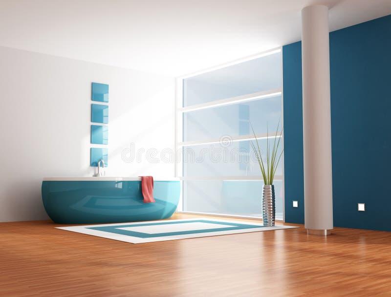 Cuarto de baño azul ilustración del vector