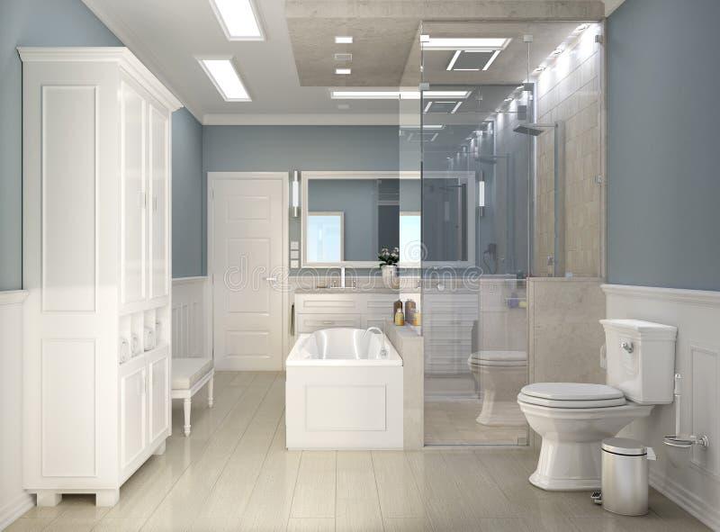 Cuarto De Baño Clásico Moderno Con El Wc Foto de archivo - Imagen de ...