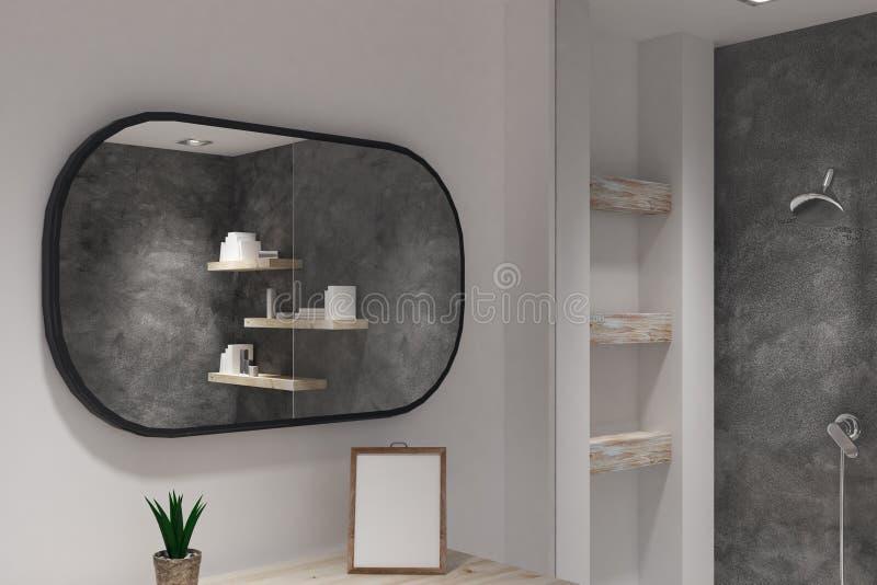Cuarto de baño con el marco en blanco ilustración del vector