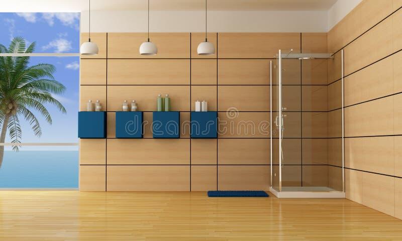 Cuarto de baño de lujo stock de ilustración