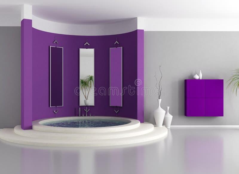 Cuarto de baño de lujo púrpura ilustración del vector