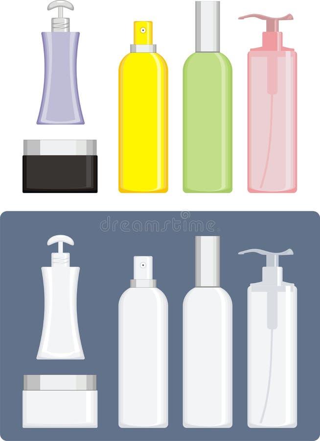 Cuarto de baño del cosmético del jabón y de la crema fotos de archivo