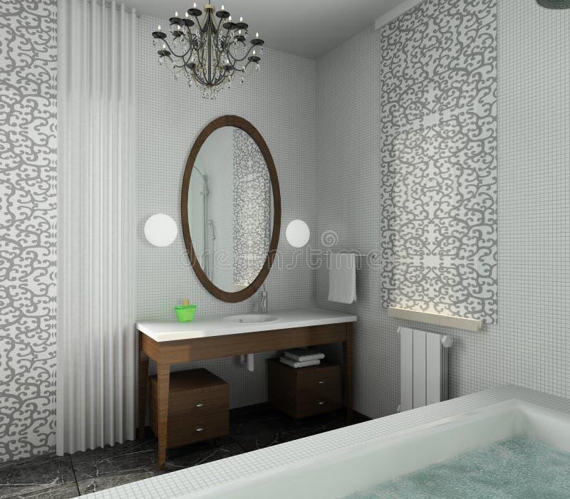 Cuarto de baño. Diseño moderno de interior fotografía de archivo libre de regalías