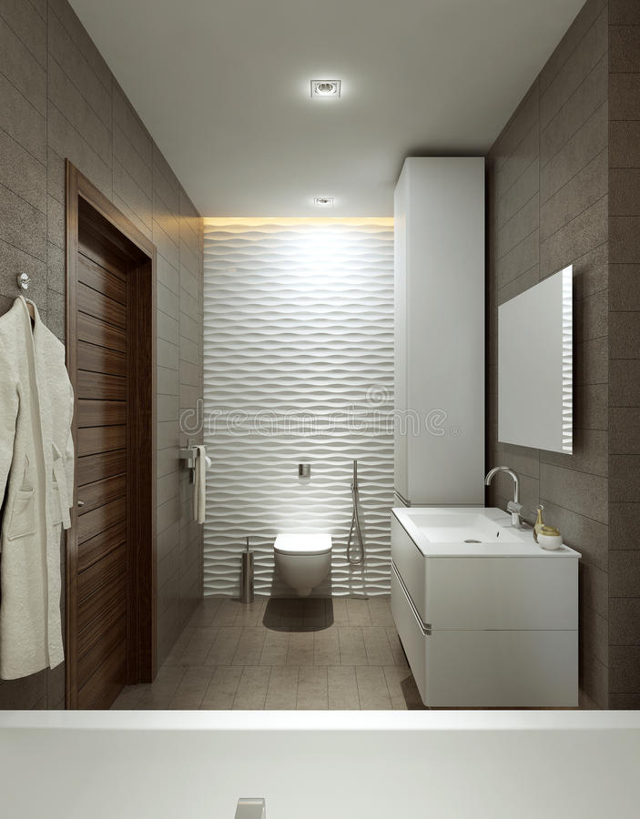 Cuarto de baño en estilo moderno libre illustration