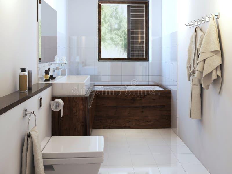 Cuarto de baño en estilo moderno ilustración del vector