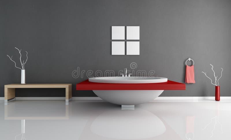 Cuarto de baño mínimo moderno ilustración del vector