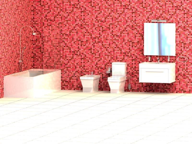 Cuarto de baño rojo libre illustration