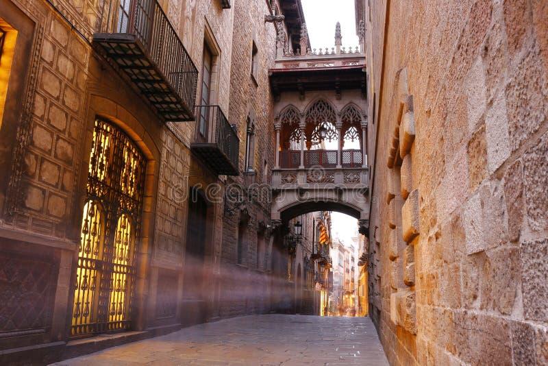 Cuarto de Barri Gotic de Barcelona, España foto de archivo