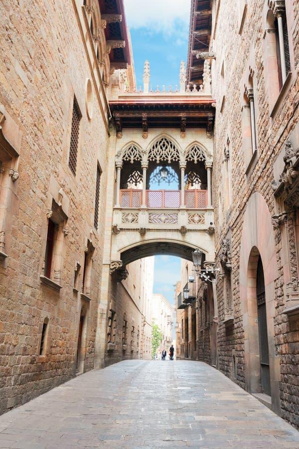 Cuarto de Gotic de Barcelona foto de archivo libre de regalías