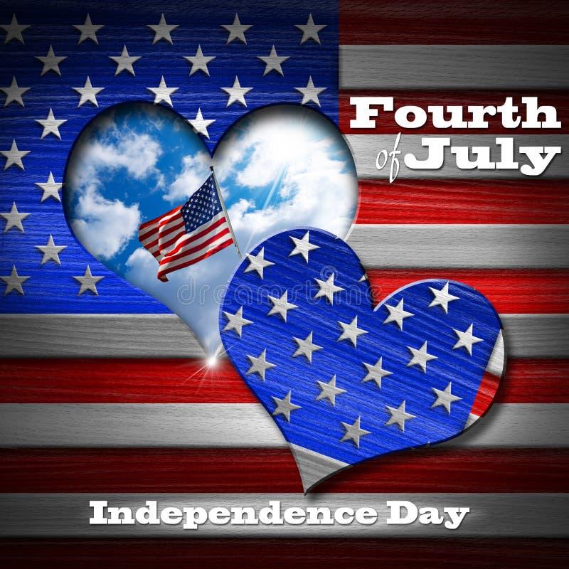Cuarto de julio - Día de la Independencia libre illustration