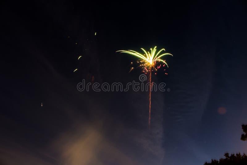 Cuarto de los fuegos artificiales de julio foto de archivo libre de regalías