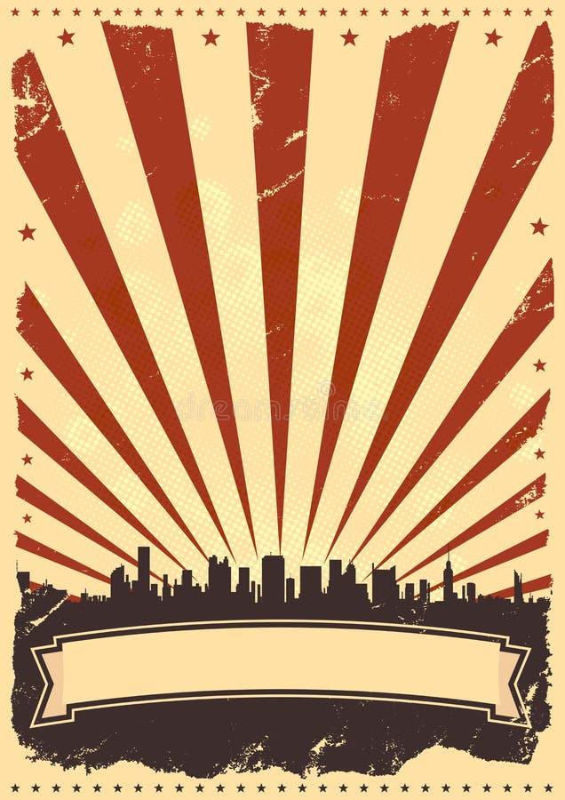 Cuarto del fondo del cartel de julio stock de ilustración