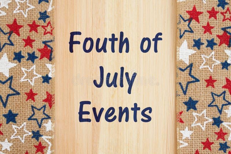 Cuarto del mensaje de los eventos de julio foto de archivo