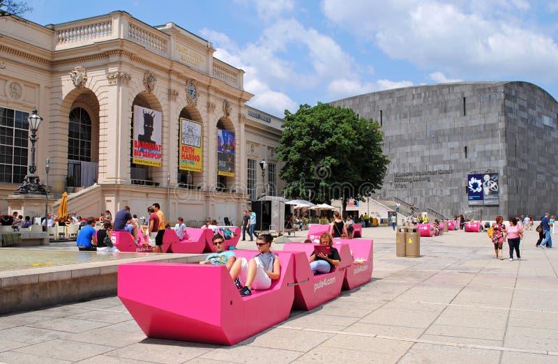 Cuarto del museo de Viena fotografía de archivo libre de regalías