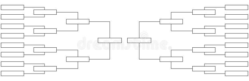 Cuarto-finales del torneo de la tabla del campeonato en deportes ilustración del vector