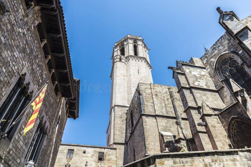 Cuarto gótico, Barcelona imagen de archivo