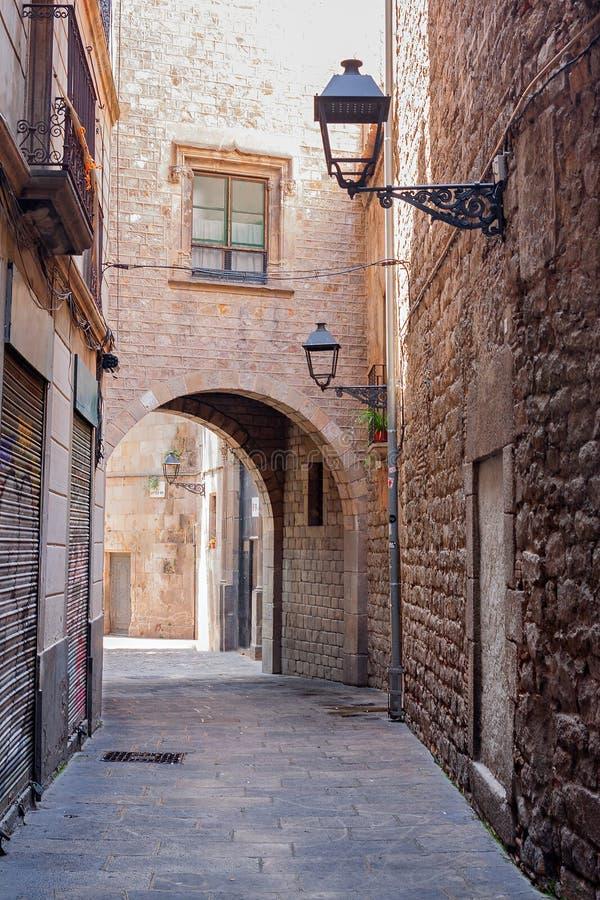Cuarto gótico de Barcelona imagen de archivo libre de regalías