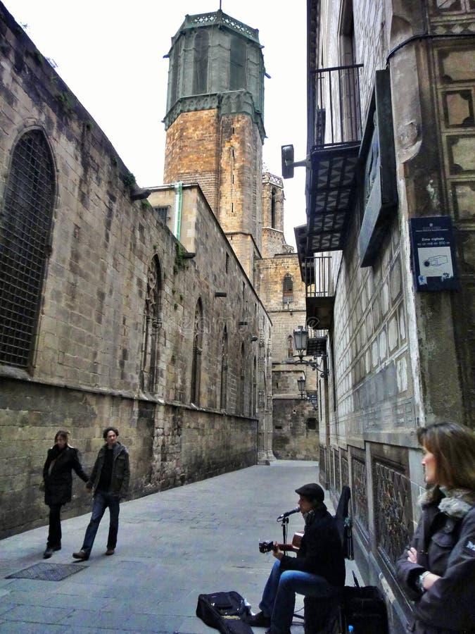 Cuarto gótico de Barcelona fotografía de archivo libre de regalías