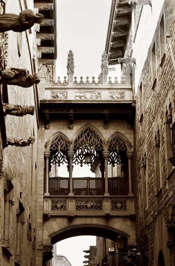 Cuarto gótico en Barcelona fotografía de archivo