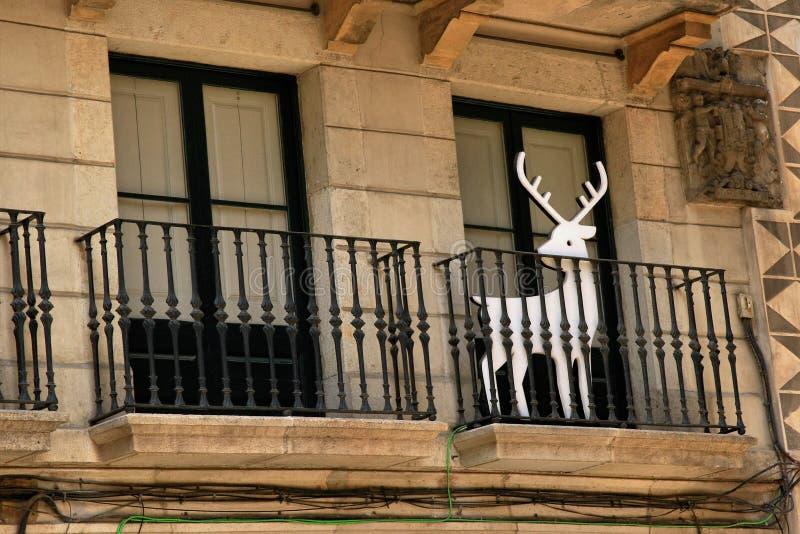 Cuarto gótico en Barcelona, España imágenes de archivo libres de regalías