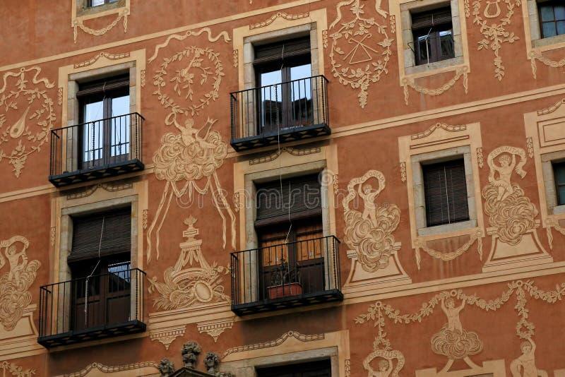 Cuarto gótico en Barcelona, España foto de archivo libre de regalías