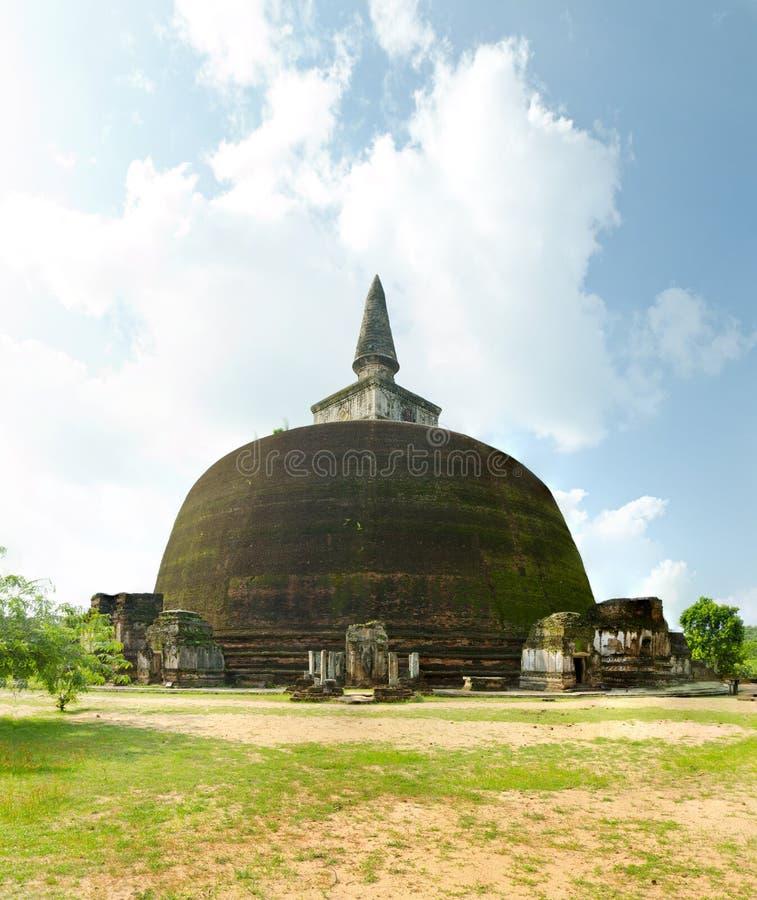 Cuarto más grande dagoba en Sri Lanka imágenes de archivo libres de regalías
