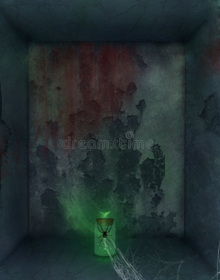 Cuarto oscuro stock de ilustración