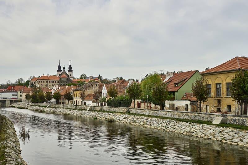 Cuarto y castillo francés judíos, Trebic, República Checa, sitio de la UNESCO fotografía de archivo