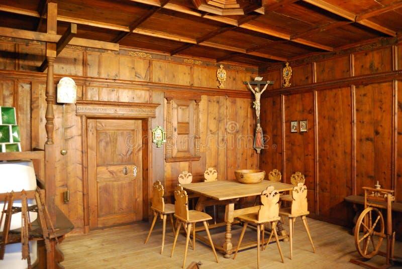 Cuartos alemanes medievales interiores imagenes de archivo