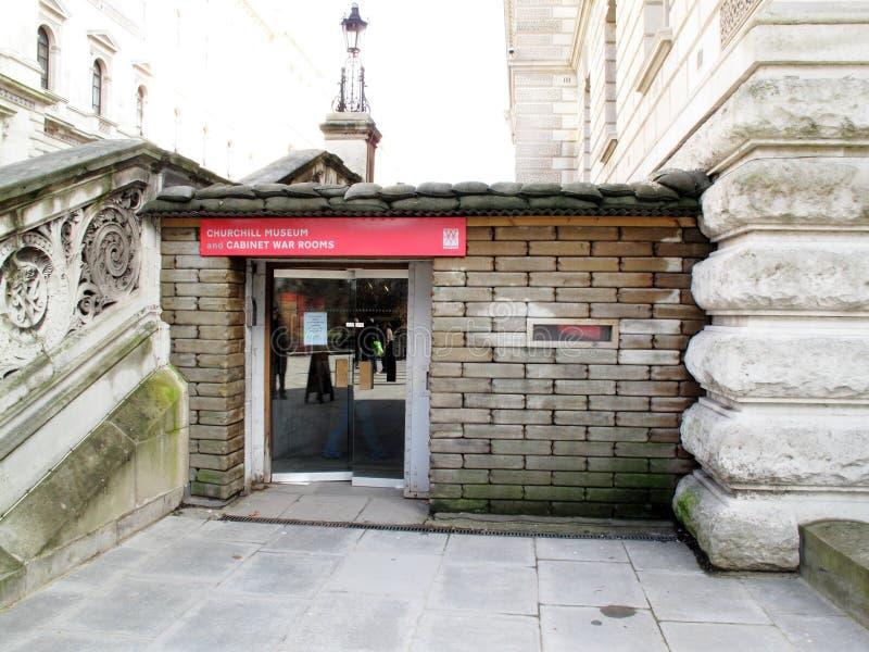 Cuartos de guerra de Winston Churchill Museum y del gabinete foto de archivo